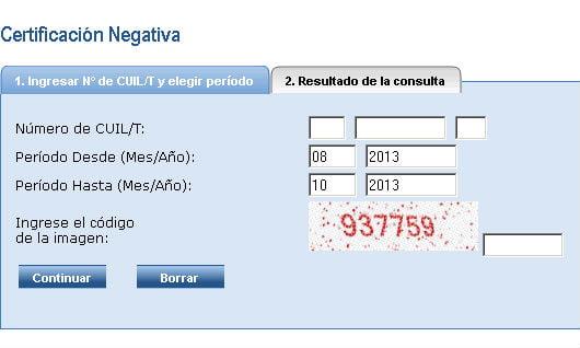 La Certificación Negativa puede descargarse desde Internet