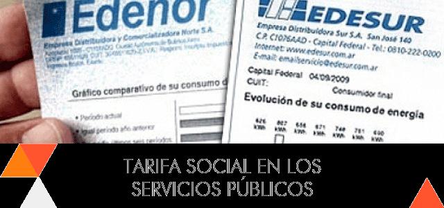 Solicitar la tarifa social en los servicios públicos
