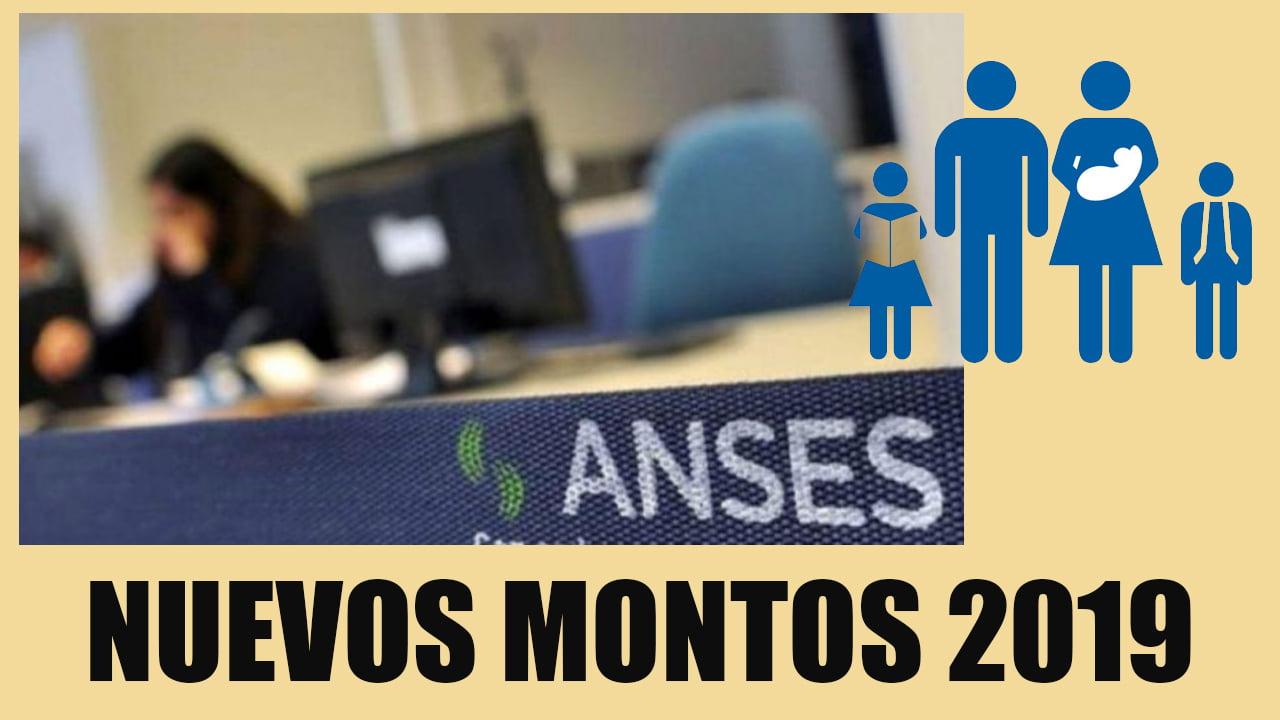 Nuevos MONTOS ANSES 2019 de las Asignaciones, Pensiones y Jubilaciones