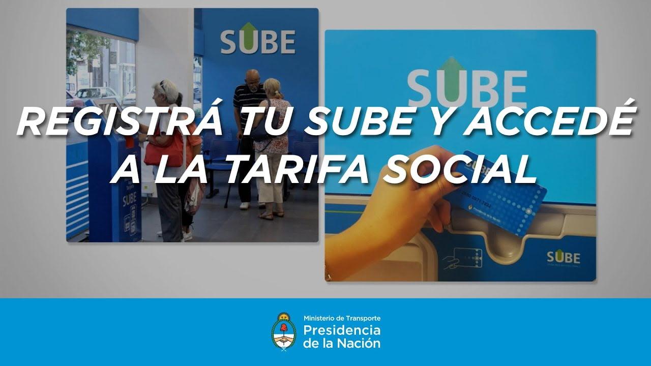 Como solicitar la Tarifa Social SUBE