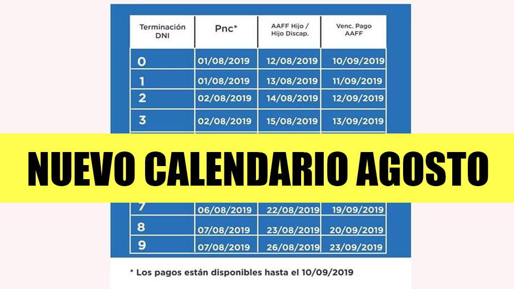 Cambios en Calendario de pagos de la Anses