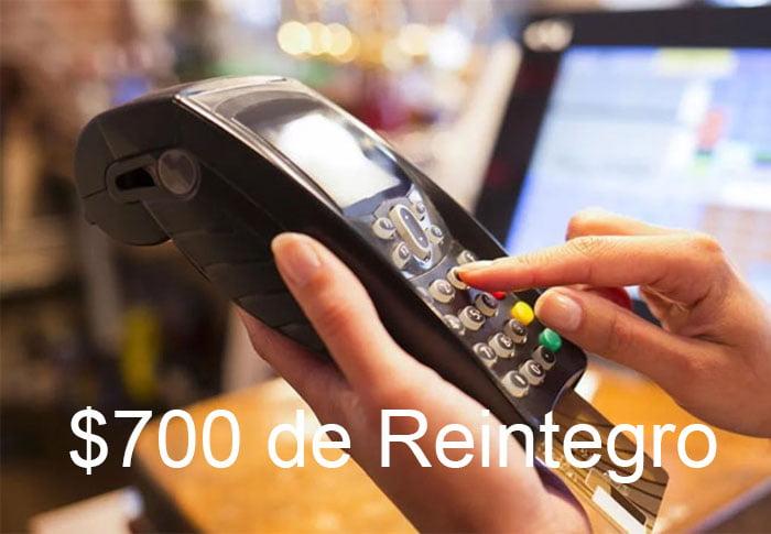 700 pesos de reintegro