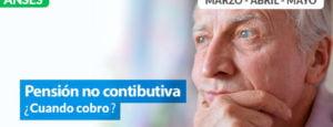 Fechas de cobro Pensiones no Contributivas MARZO, ABRIL y MAYO 2020