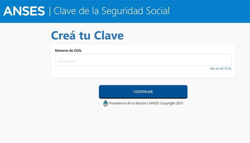 crear la Clave de Seguridad Social